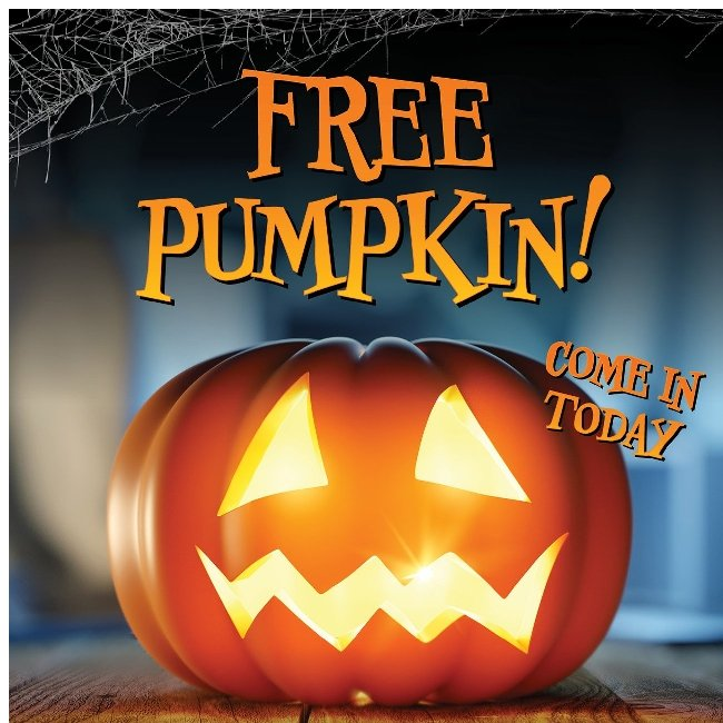 Hi ${firstName}, Come in Today and Get a Free Pumpkin!