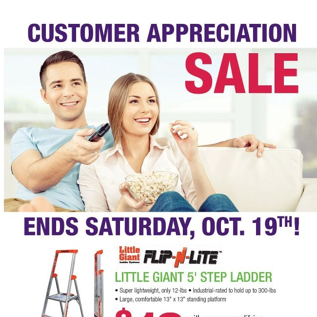 Hurry! Our Customer Appreciation Sale Ends Saturday!