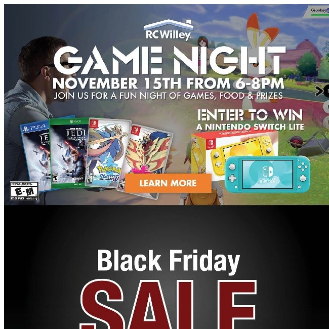 Game Night Tomorrow 🎮+ Black Friday Sale Today!  🎉