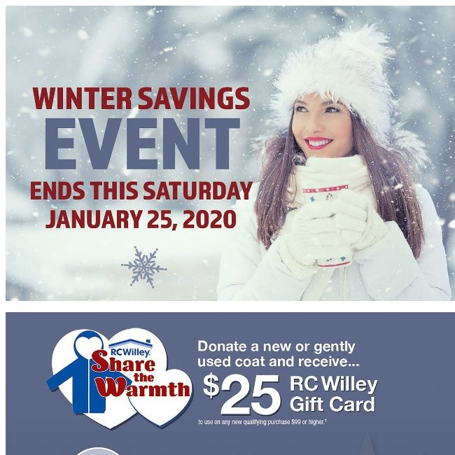 Hi ${firstName}, Hurry! Our Winter Savings Event Ends Tomorrow!