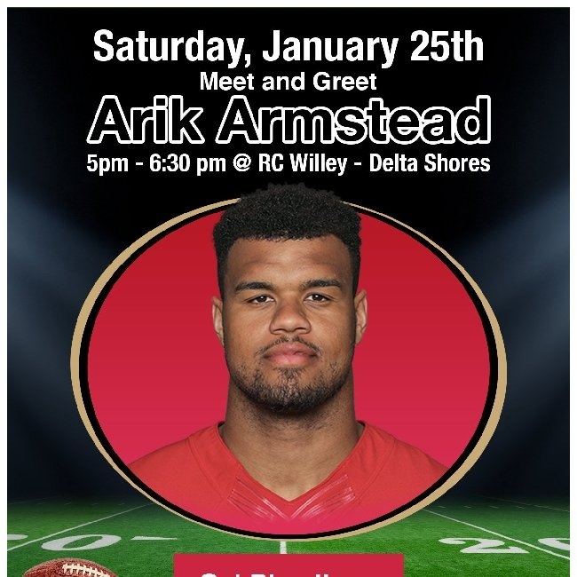 Meet and Greet with Pro Football Player, Arik Armstead