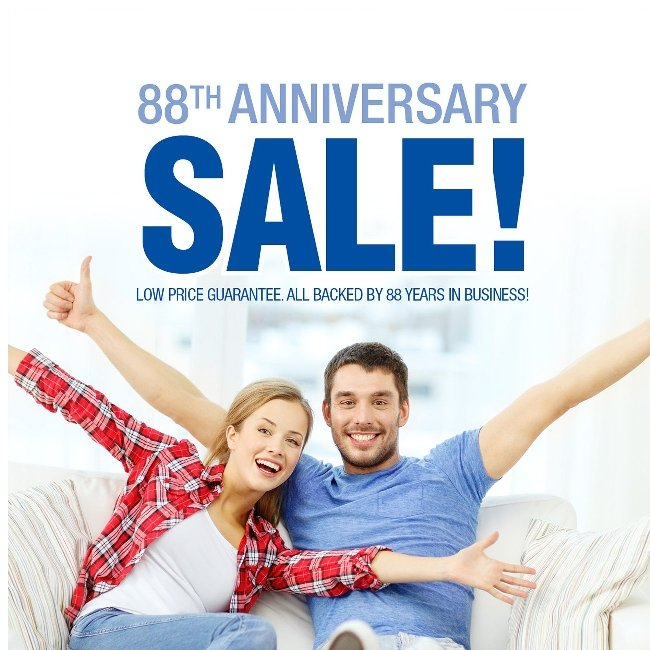 Anniversary Sale! Click to Celebrate 88 Years With Us!