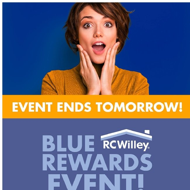 Blue Rewards Event Ends Tomorrow! Join Today!