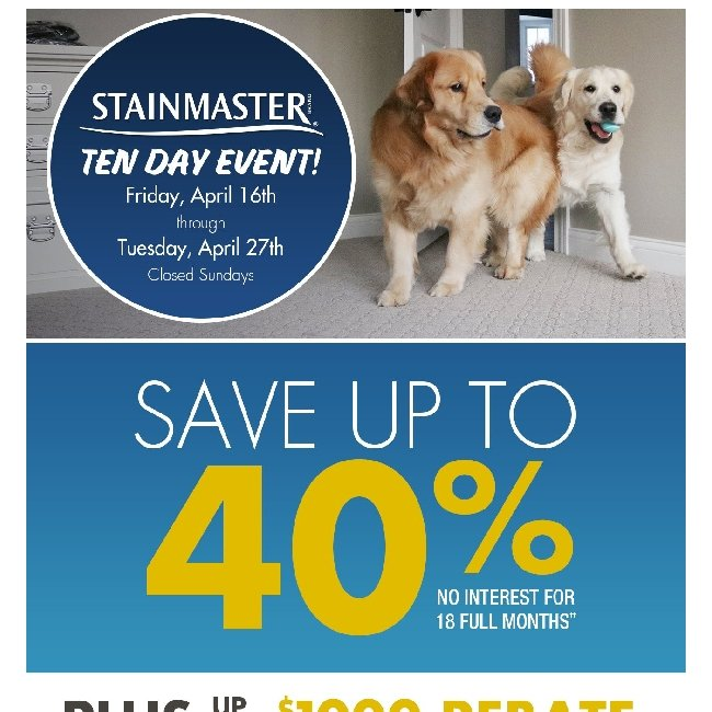 Hi ${firstName}, Get a Free Pre-Measure and Save up to 40% at Our 10-Day Stainmaster Event