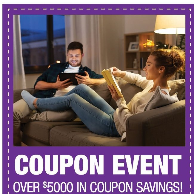 Coupon Event! Over $5,000 in Savings Starts Now!