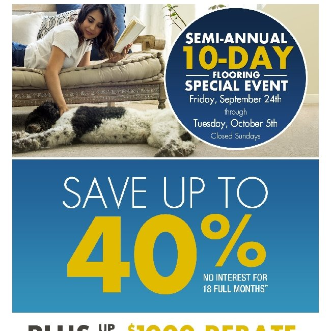 Hi ${firstName}, Get a Free Pre-Measure and Save up to 40% at Our 10-Day Flooring Special Event