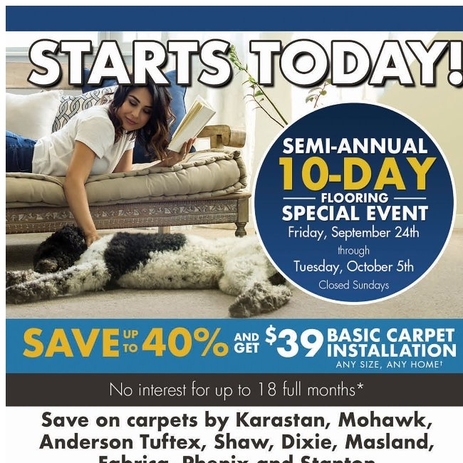 10-Day Flooring Special Event Starts Today!