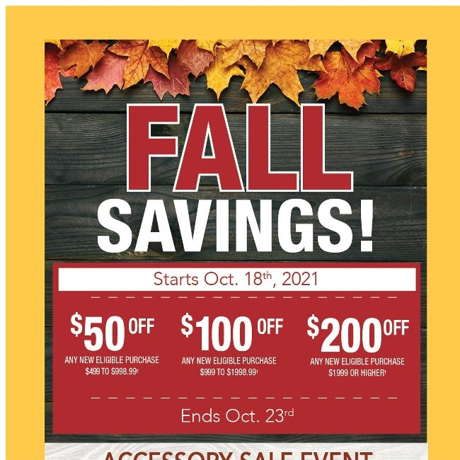 Fall Savings Event is Here!