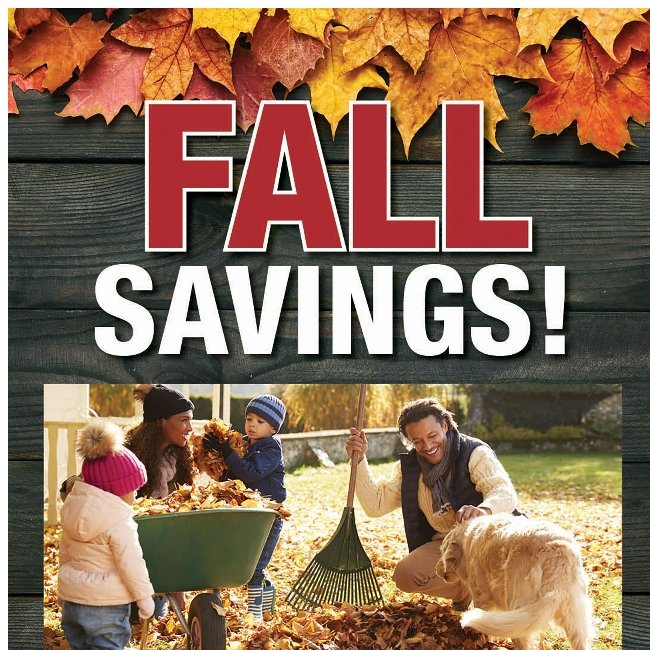 Fall Savings! Get Up to $200 off Any New Eligible Purchase!