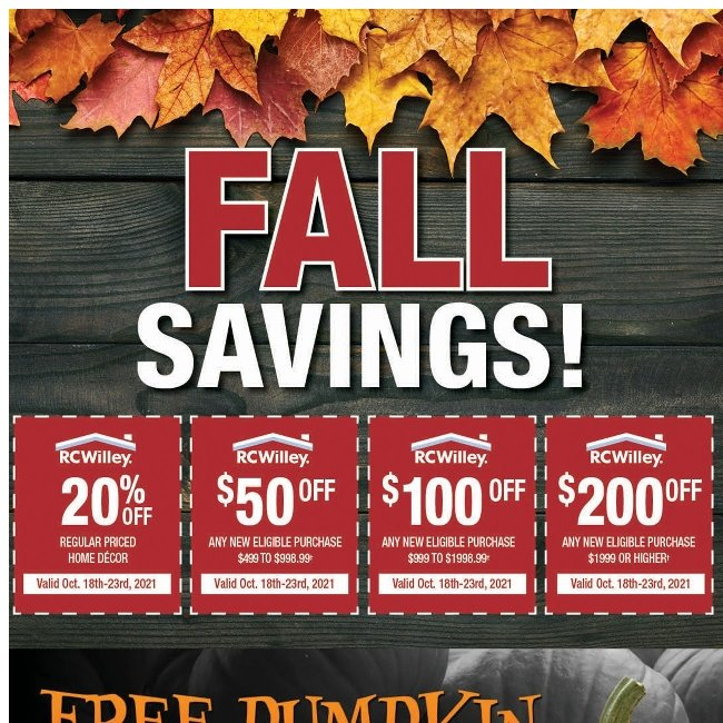 Fall Savings! Come in Today and Get a Free Pumpkin!