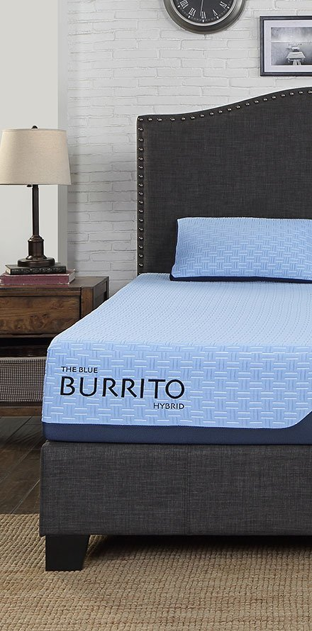Blue Burrito Hybrid mattress
