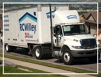 RC Willey delivery truck bringing and express delivery