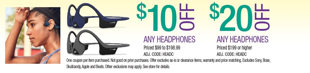 Save up to $20 on Headphones