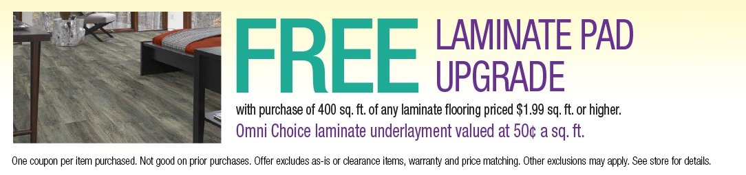 Get a FREE Laminate Pad Upgrade