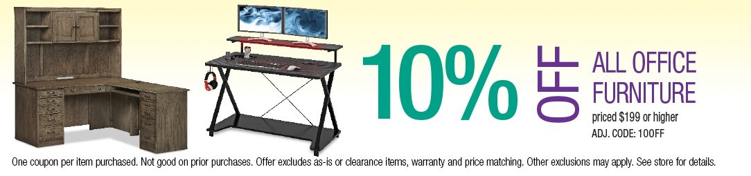 Save 10% off all Office Furniture