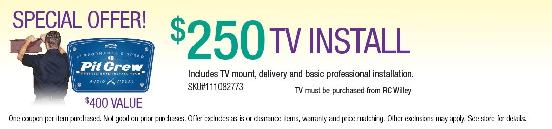 TV Installation for $250