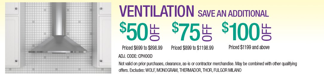 Save up to an additional $100 on Ventilation