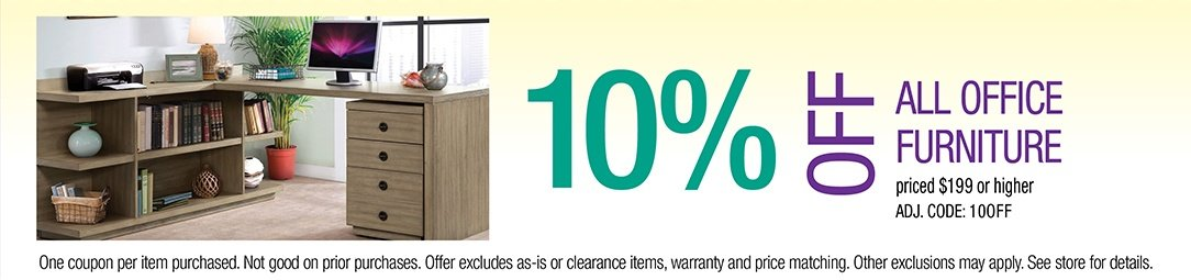 Get up to 10% off all Office Furniture