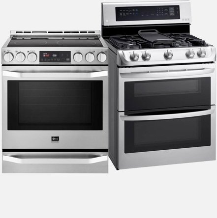 LG Ovens, Ranges, Cooktops, and Microwaves