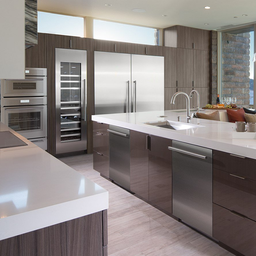 modern and sleek kitchen with Thermador appliances