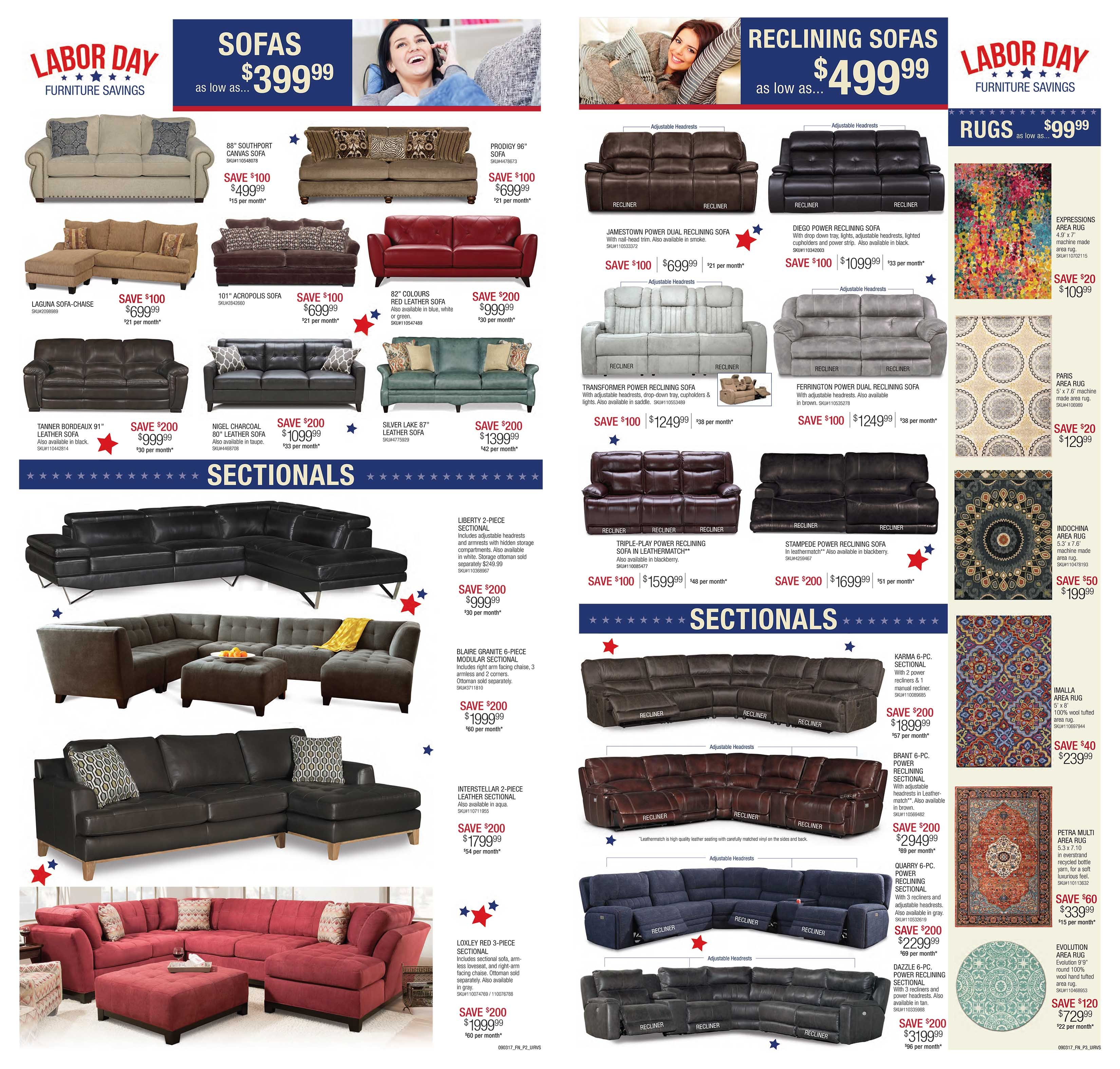 Rc Wiley Reno: Labor Day Sale Home Furnishings Doorbusters!