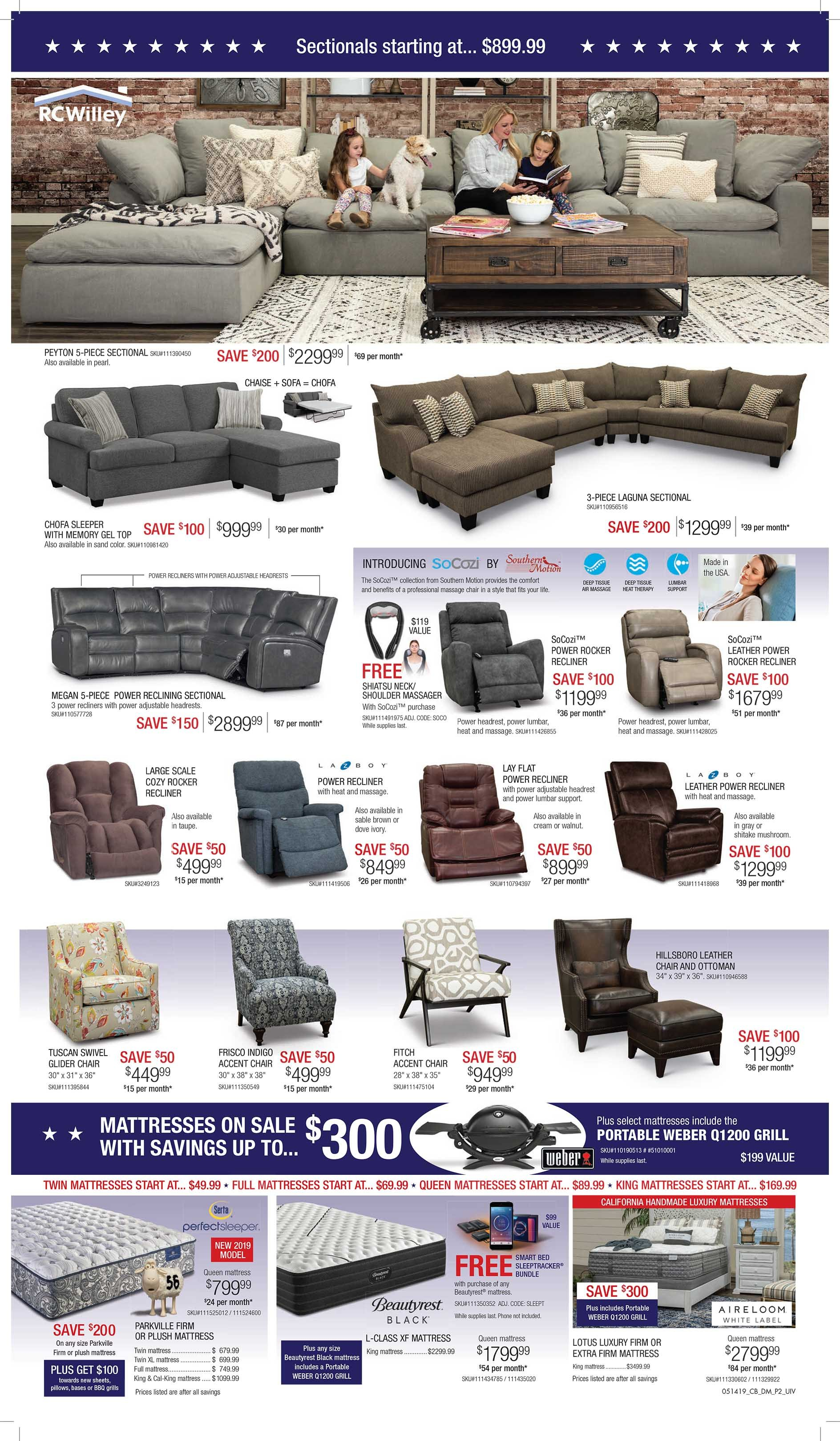 Memorial Day Savings At Rc Willey
