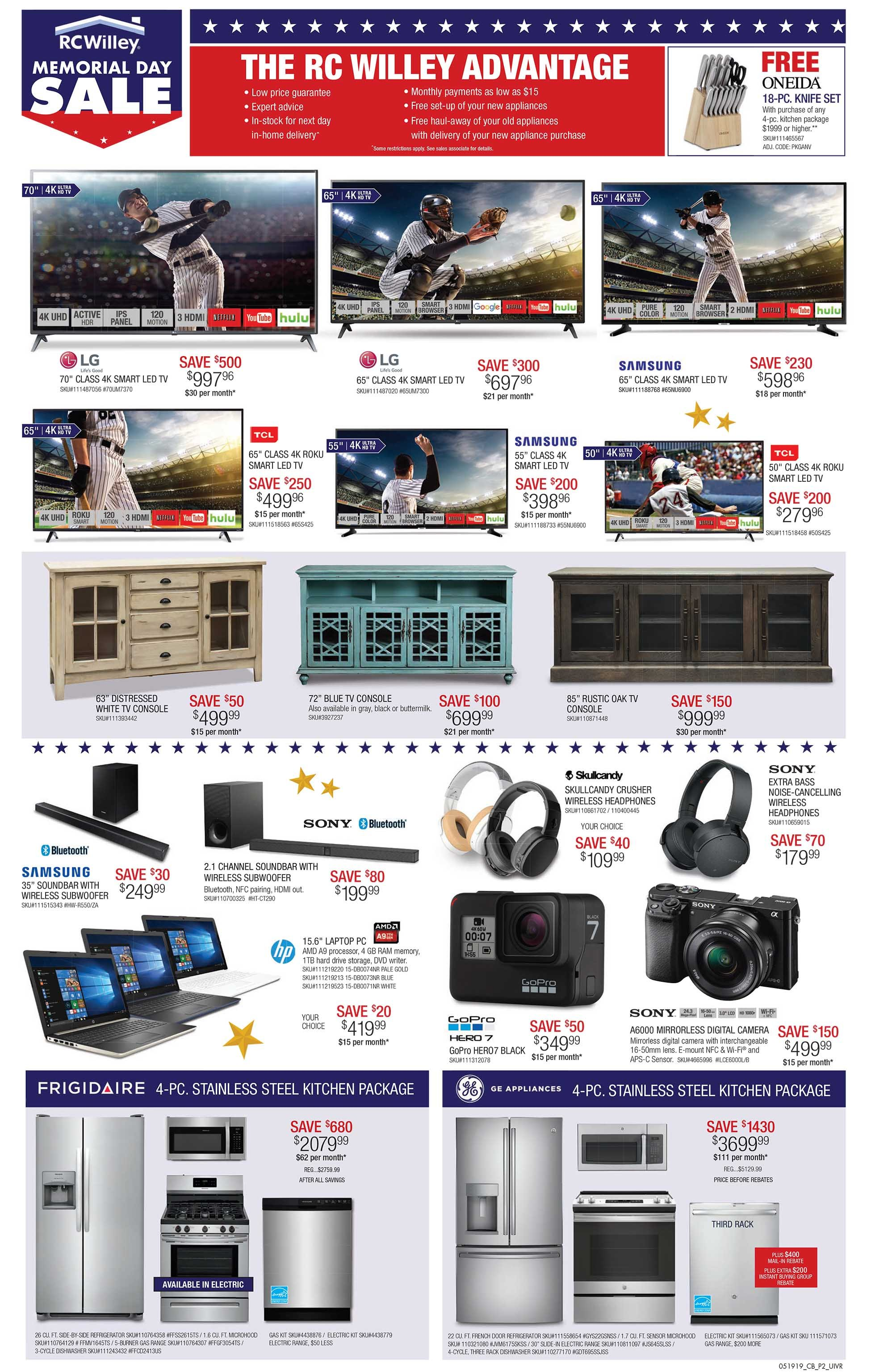 Rc Willey S Memorial Day Sale