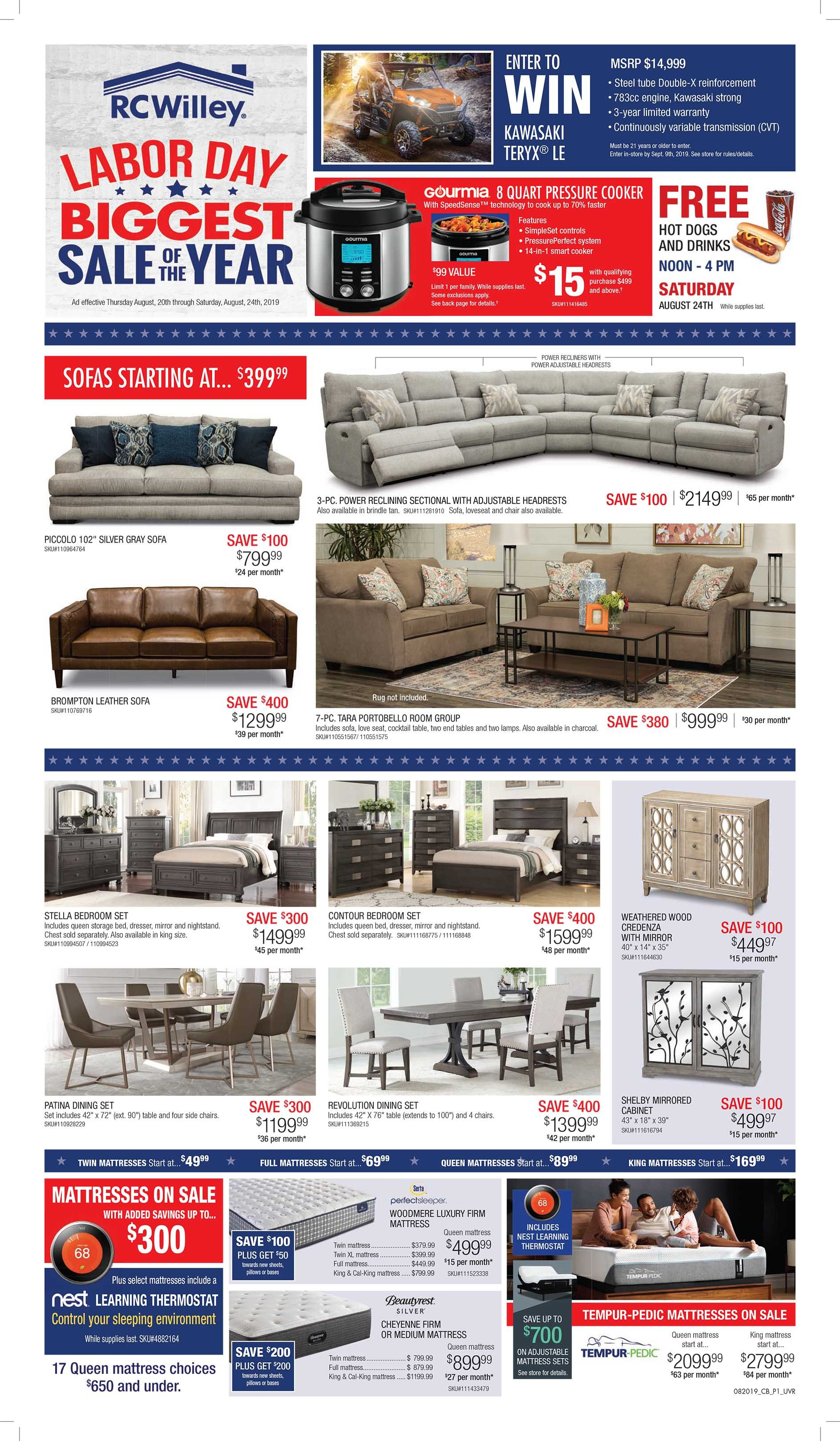 Labor Day Savings Going On Now At Rc Willey