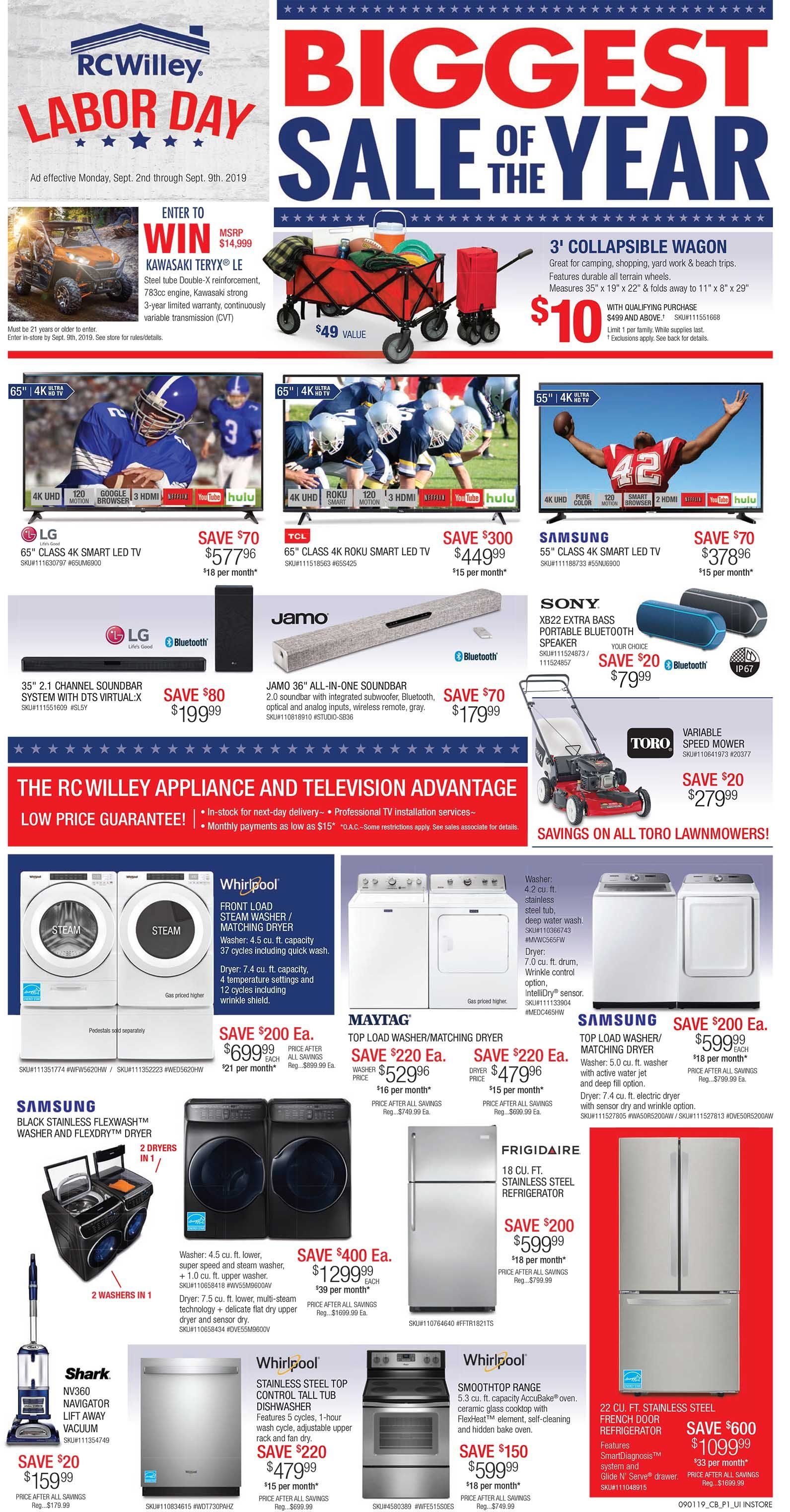 RC Willey's Labor Day Appliances and Electronics Sale ...