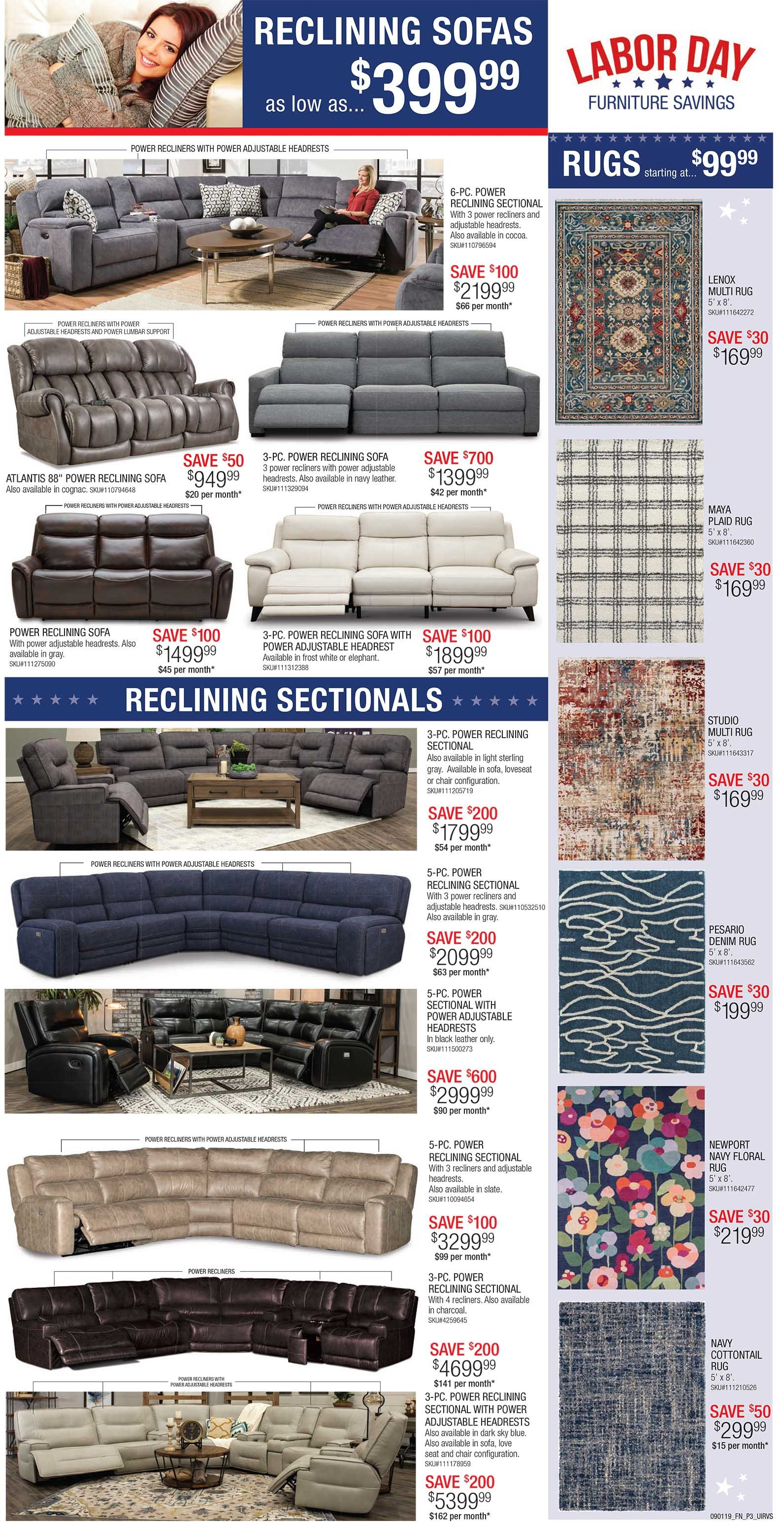 Labor Day Home Furnishings Sale At Rc Willey Plus