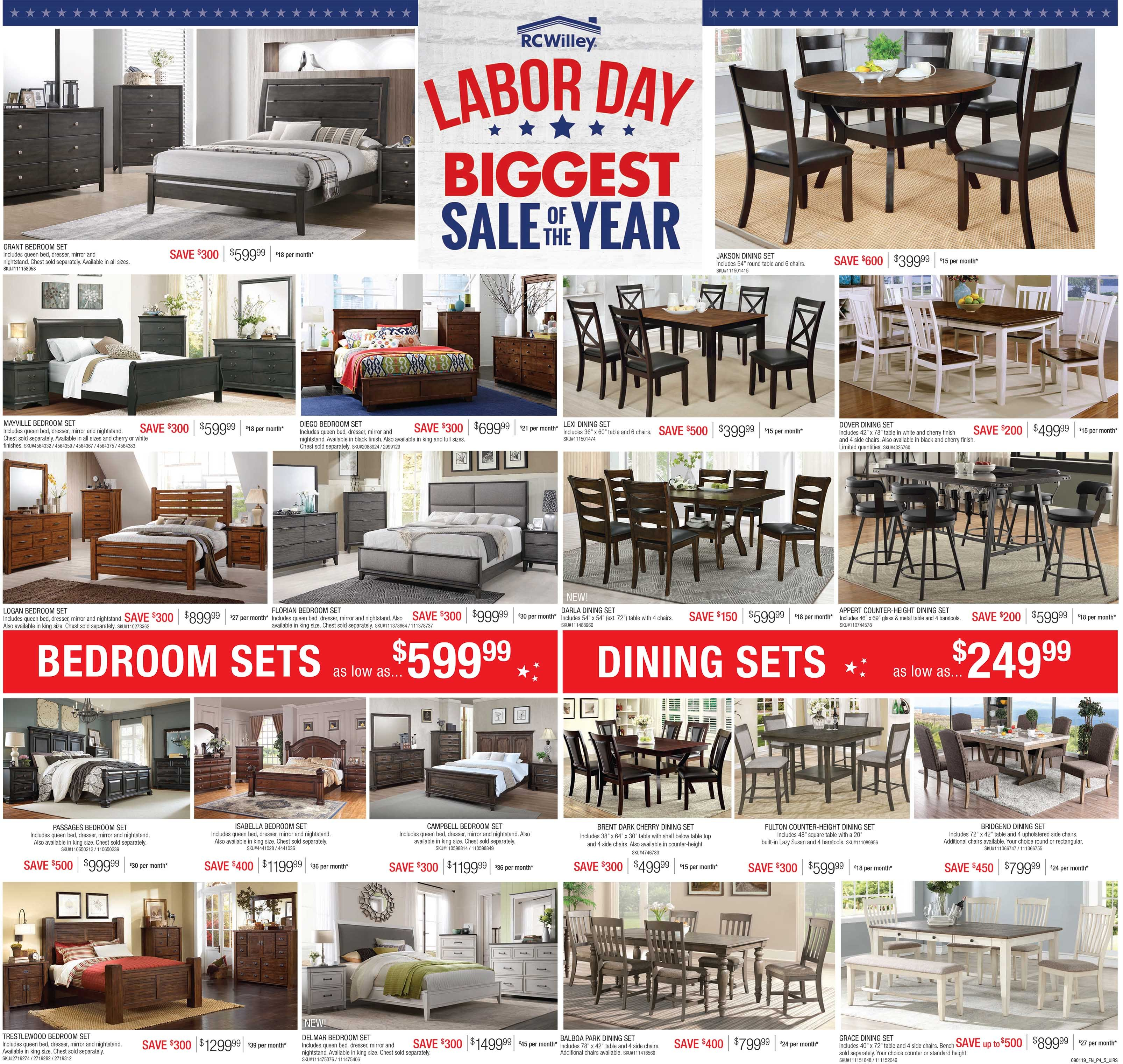 Rc Willey Orem Mall: Labor Day Home Furnishings Sale At RC Willey! Plus