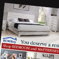 Monthly Category Spotlight: Bedroom and Mattresses on Sale at RC Willey!