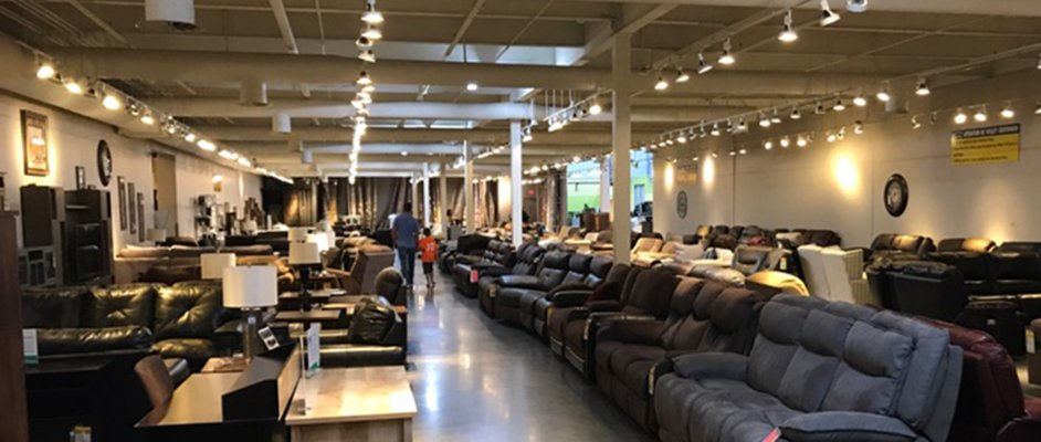 Clearance sofas for sale at RC Willey in South Reno, Nevada