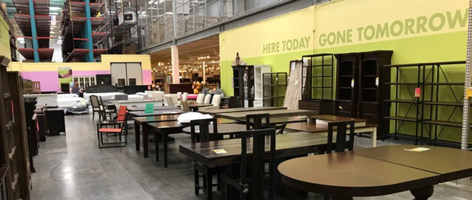 Clearance dining furniture in RC Willey Reno, Nevada