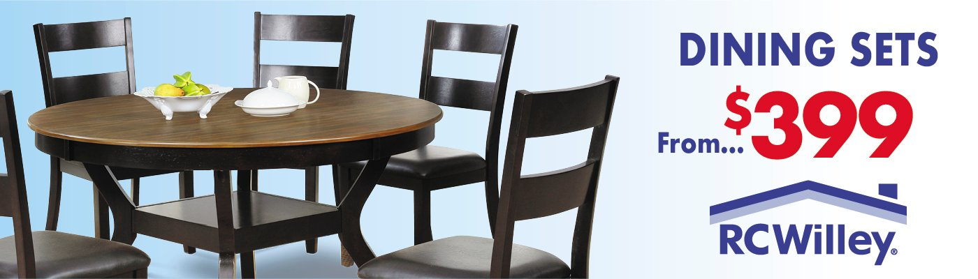 Shop Dining Sets Starting At $399 Billboard | Furniture Store | RC Willey