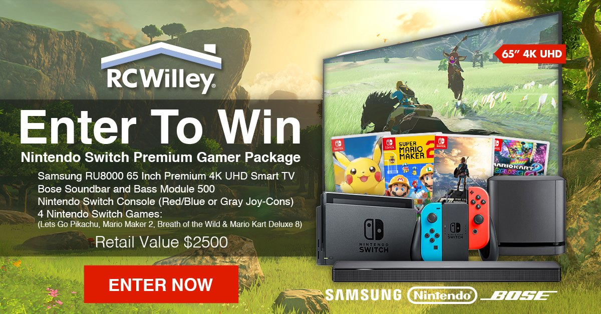 July 2019 RC Willey Giveaway