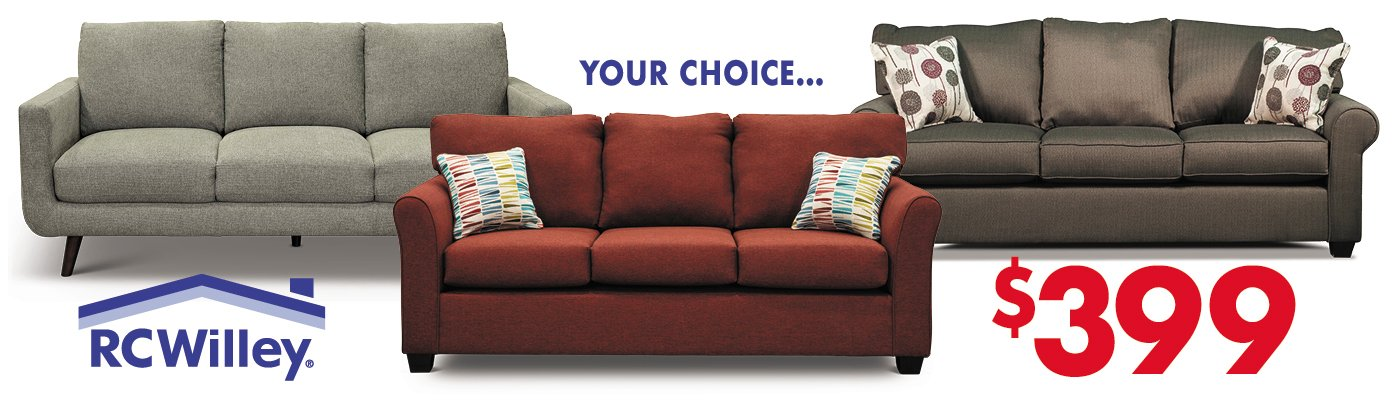 Your Choice Sofas for $399 in the Sofa Store at RC Willey