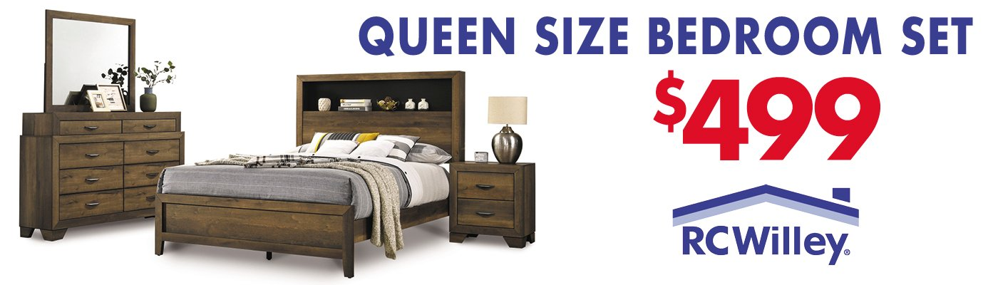 Get this Queen Size Bedroom Set for $499 at RC Willey