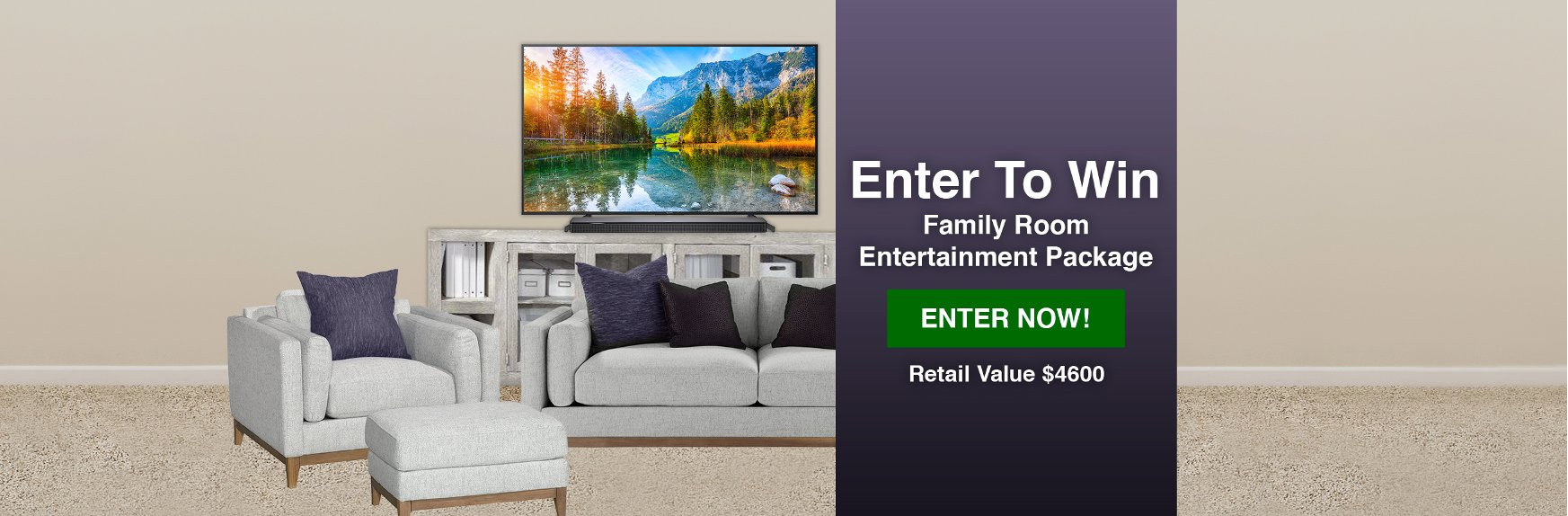 Enter To Win A Family Room Entertainment Package From RC Willey | Giveaway