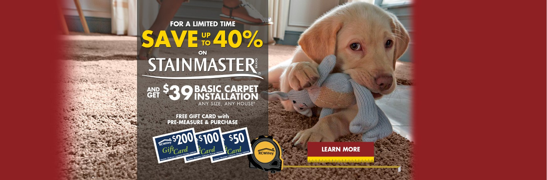 Learn More About Our Stainmaster Sales Event | Fall 2019 | Flooring Store | RC Willey