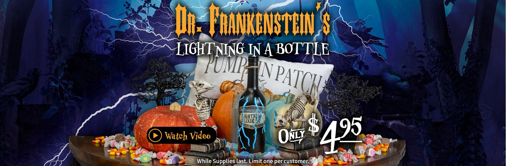 Dr. Frankenstein's Lightning In A Bottle October 2019 | One Day Deal | RC Willey