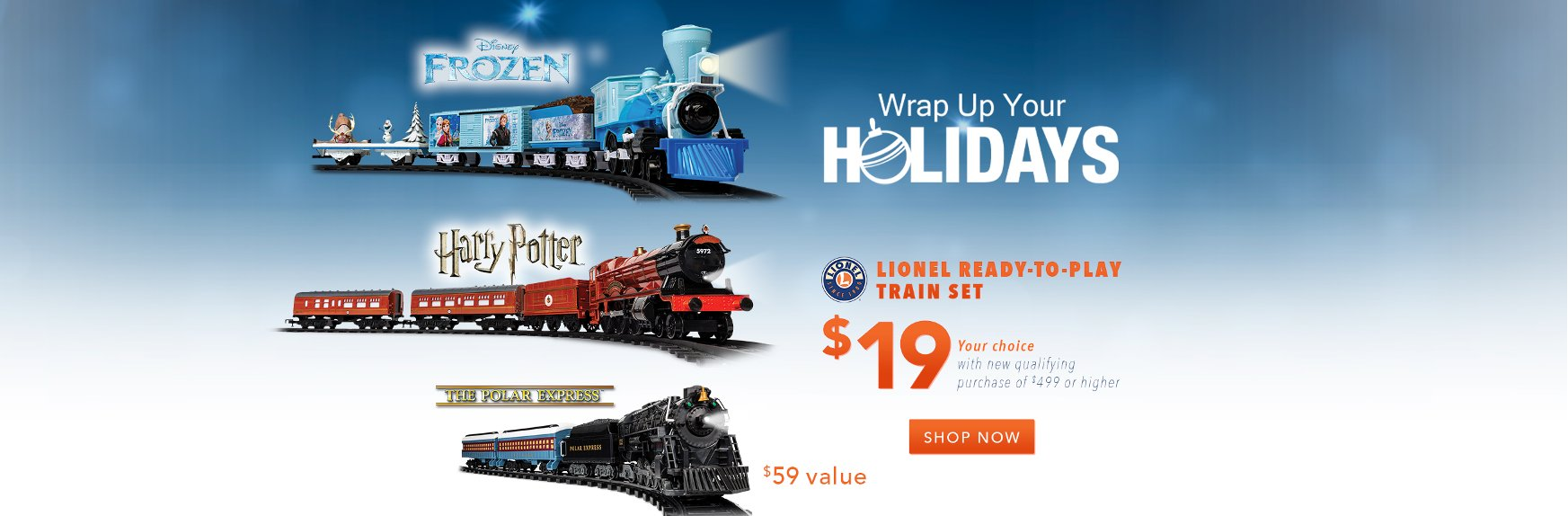 Lionel Read-to-Play Train Set for $19 with New Qualifying Purchase of $499 or Higher