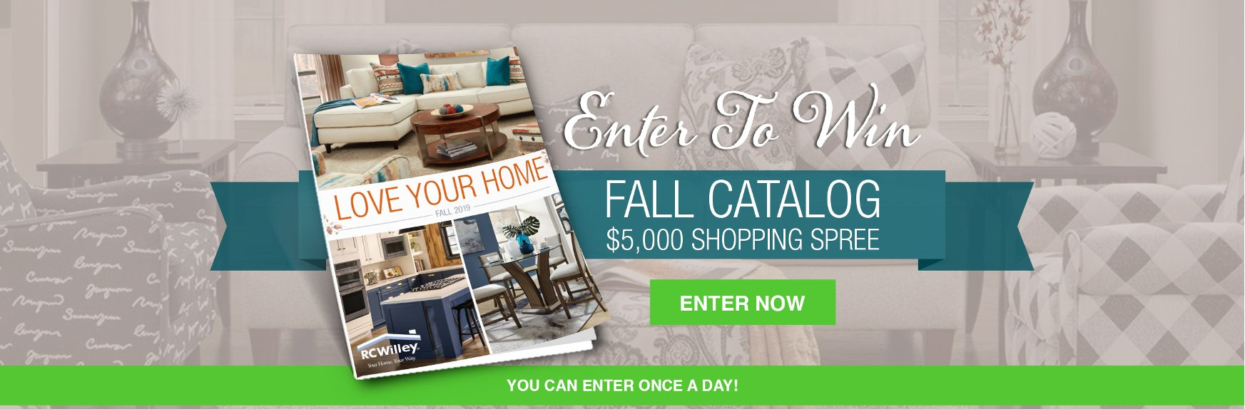 Enter To Win A  Fall Catalog $5,000 Shopping Spree | Giveaway