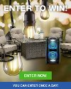 Enter to win a Macan Traditional Patio Firepit Set, a Sony XB72 Wireless Speaker, and a Set of 48' LED String Lights!