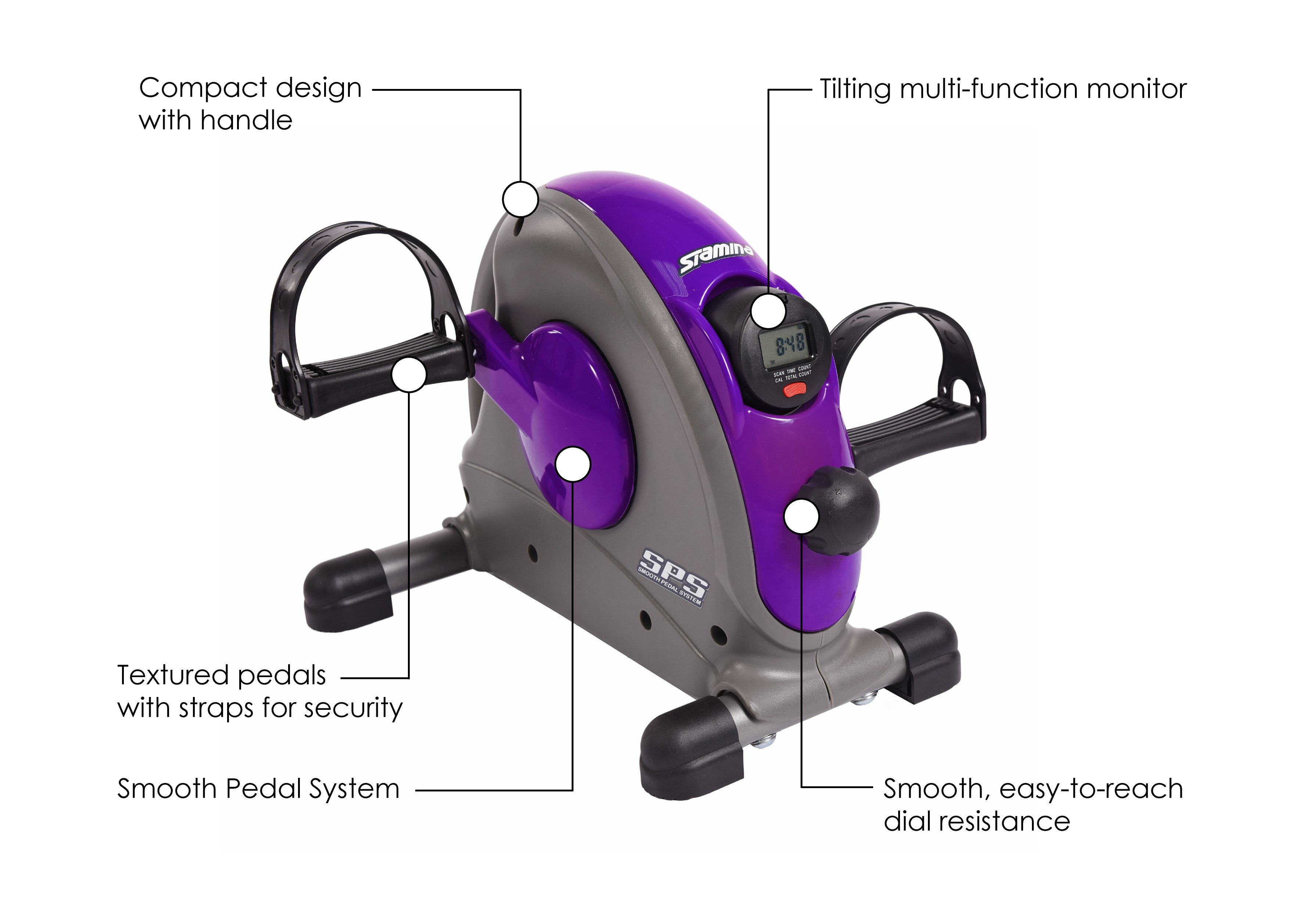 Mini Exercise Bike Purple