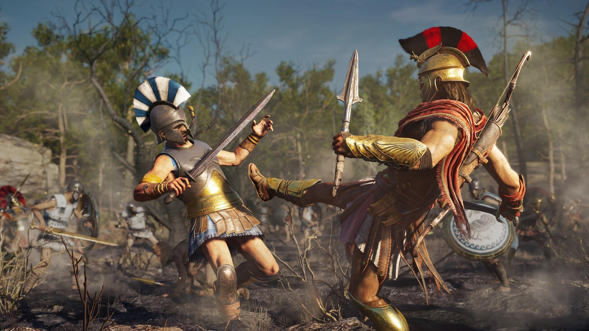 Battle gameplay in Assassins Creed Odyssey