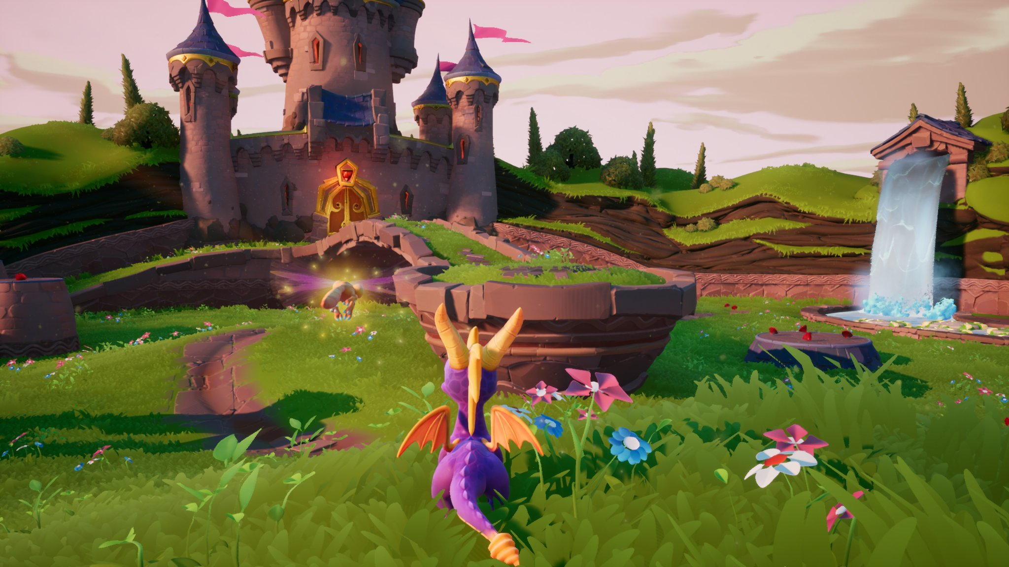 Screenshot depicting the updated Spyro graphics