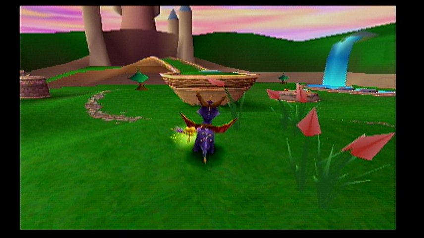 A screenshot of the old Spyro graphics