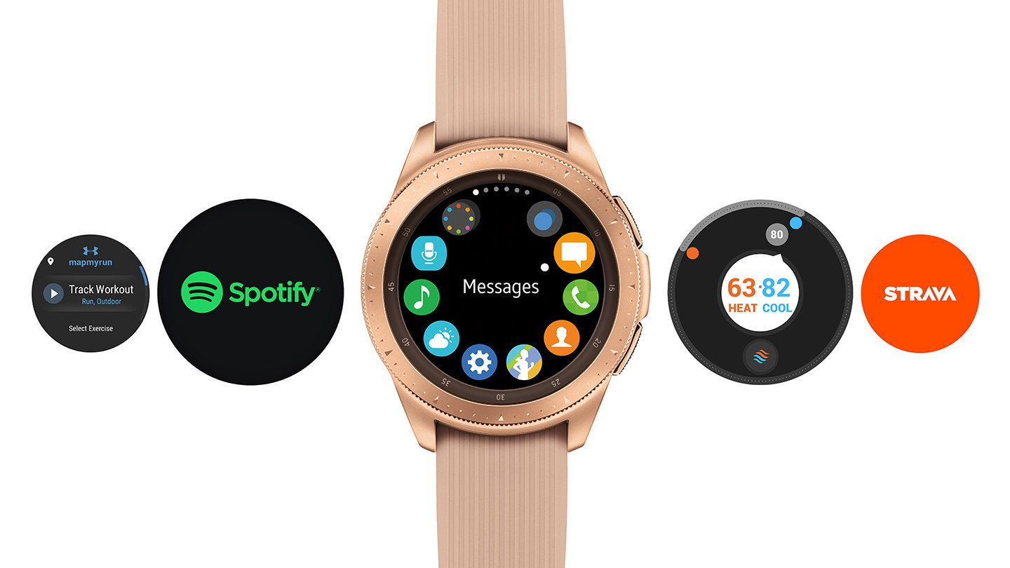 Many apps that the Samsung smartwatch can use