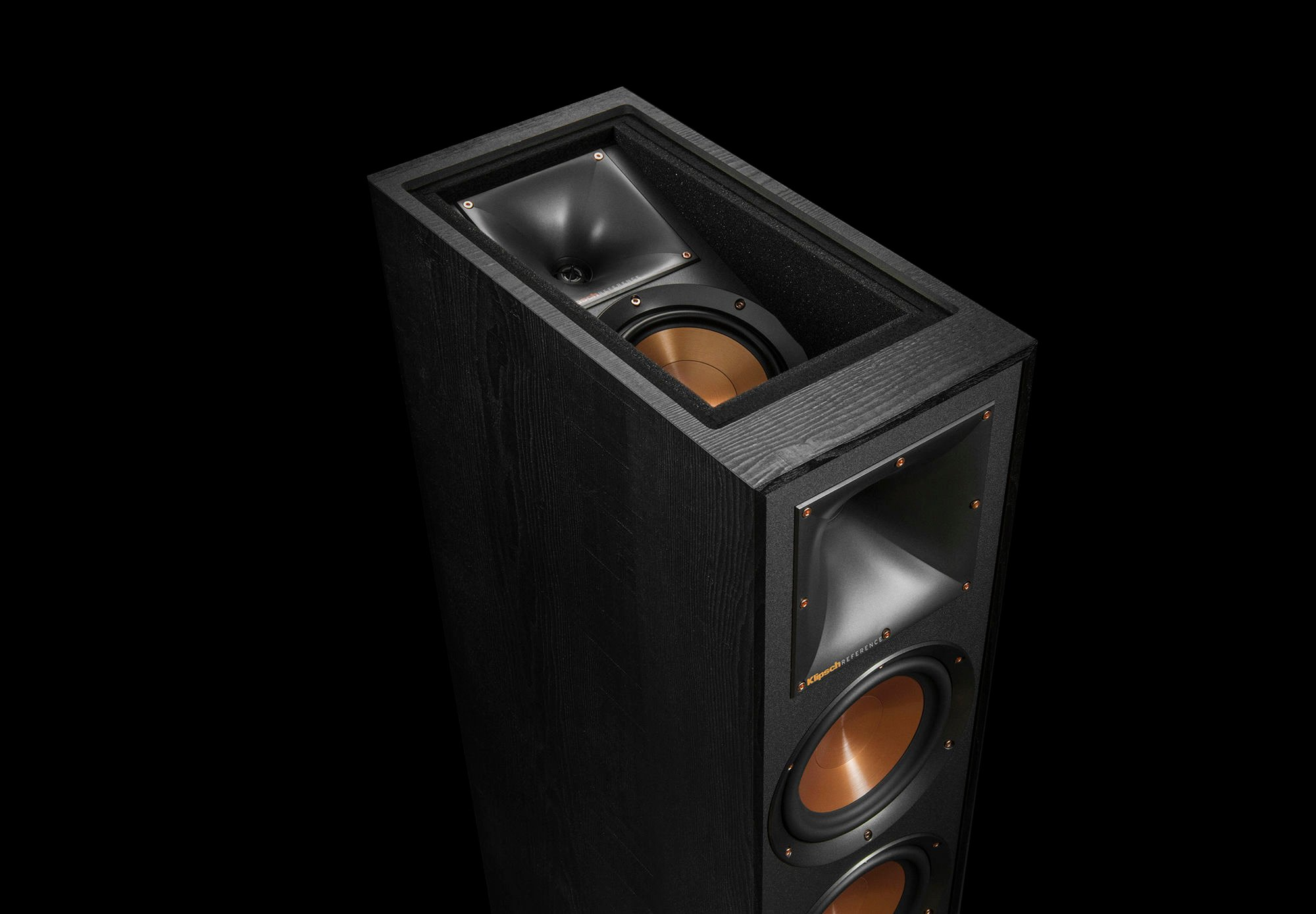 Top of the Klipsch floorstanding speaker